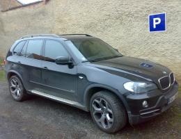 BMW X5 - bezpecnostni a protislunecni autofolie Llumar bezp.300µm+ATR5,15