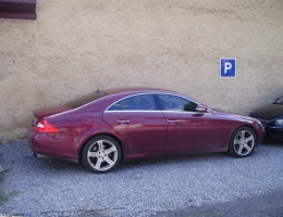 Mercedes Benz CLS - autofolie Llumar AT35