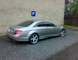 Mercedes Benz CL500 instalace protislunecni autofolie Llumar AT35CH (2)