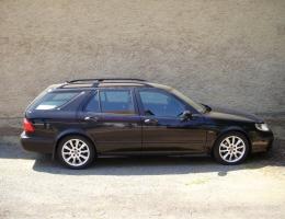 Saab 95 combi instalace bezpecnostnich autofolii Llumar 300um