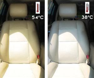 autofólie - rozdíl teplot